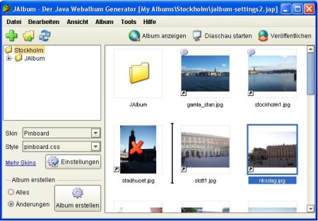 Screenshot JAlbum