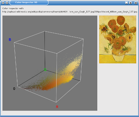 Screenshot des Color Inspector 3D